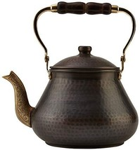 DEMMEX 2019 Heavy Gauge 1mm Thick Natural Handmade Turkish Copper Tea Po... - $87.23