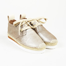 37dd574d84e1 See by Chloe  quot Crosta Star quot  Metallic Silver Leather Sneakers ...