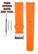 Nautica A14612G 22mm Orange Diver Rubber Watch Strap Band Anti Allergic ... - $24.90
