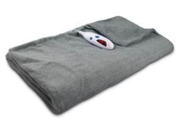 "NEW Biddeford Heated Electric Throw Blanket Geometric Gray 50""x60"" Auto ... - $61.18 CAD"