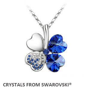 2019 summer style hot sale classic clover necklace with Crystals from Swarovski  image 3