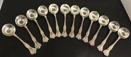 12 Antique 1902 GORHAM Sterling Silver Bouillon Spoons - PATRICIAN - $350.63