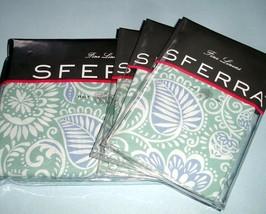 Sferra Ressa Queen Duvet Cover 4 PC. Set Aqua/Cornflower Blue Cotton Percale New - $398.00