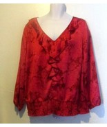 Charter Club New V-Neck Ruffled Blouse Size 3X - $18.02