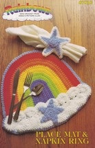 Rainbow Place Mat & Napkin Ring, Annie's Attic Crochet Pattern Leaflet 87R10  - $2.95