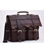 Men's Classic Genuine Leather Business Shoulder Bag Handbag Travel Brie... - $79.13