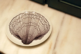 Fitz & Floyd Brown Shell Scallop Salad Plate - $10.00