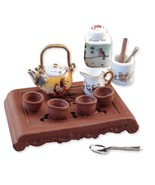 Dollhouse Asian Tea Srvice w Tray 1.450/8 Reutter Service/4 canister Min... - $35.15