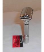 Gillette 1959 Fat Boy Razor Adjustable TTO Replated Bright Nickel E2–Z70 - $150.00