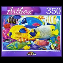 350 Piece Jigsaw Puzzle, Puzzlebug 18 in x 11 in, Colorful Fish School - $5.18