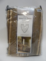 Croscill Marcella Window Collection: Waterfall Swag Valance Taupe - $19.79