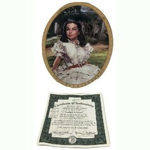 Sunlight Radiance Gone with the Wind Oval Plate Cameo Memories 1996 Bradford Exc - $38.61
