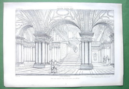 ARCHITECTURE PRINT : Italy Interior of S. Martino ai Monti at Rome - $14.85