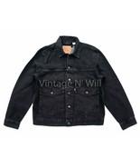 Levis Premium Red Tab Mens L Black Wash Type II 2 Patch Pocket Trucker J... - $85.49