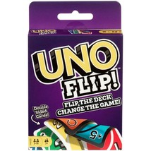 UNO FLIP! Double Sided Card Game for 2-10 Players Ages 7Y+ - $9.19