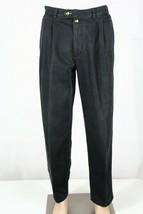 Vintage Tommy Hilfiger Men's 32 X 32 Black Khaki Pleated Front Pants Chinos Guc - $29.02