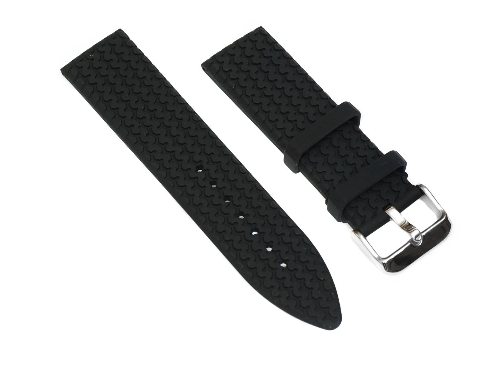 23mm Black Rubber Strap Watch Band Replacement Diver for Chopard Mille Miglia