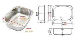 Wonang Stainless Steel Dishpan Basin Dish Washing Bowl Bucket Basket Tub image 5