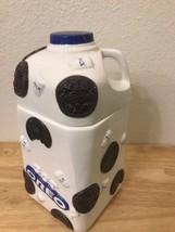 Oreo Cookie ceramic milk jug shape cookie jar Huston Harvest Gift Produc... - $48.13