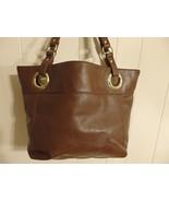 Wome L XL Handbag Shoulder Bag Tote Purse Leather Brown Shop Carry Diape... - $10.89