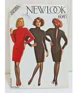 NEW LOOK Vintage Sewing Pattern 6045 Fitted Dress Sizes 8-18 Keyhole Back  - $38.21