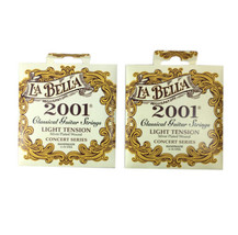 La Bella Guitar Strings 2-Pack Light Tension  Silver Plated Wound Classi... - $32.73