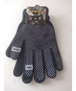 Texting Gloves Navy Blue Push Out Fingers Warm Rubberized Bottom  - $9.99