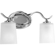 Inspire 2-Light Chrome Bathroom Vanity Light with Glass Shades - $39.59
