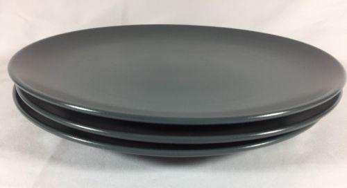 IKEA Of Sweden Dinner Plate Smooth Matte Satin Slate Dark Grey Round 18691