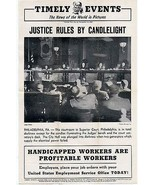 Justice Rules by Candlelight Philadelphia PA Superior Court 1945 Courtroom - $14.99