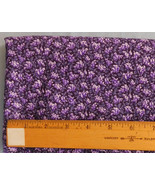 Fabric Cranston VIP, Hyacinth Overall Floral Pattern Purples, 44 Wide 1 ... - $7.99