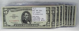 1963 $5 Red Seal U.S. Notes 9 Consecutive VCH-GEM CU PC-406 - $555.49