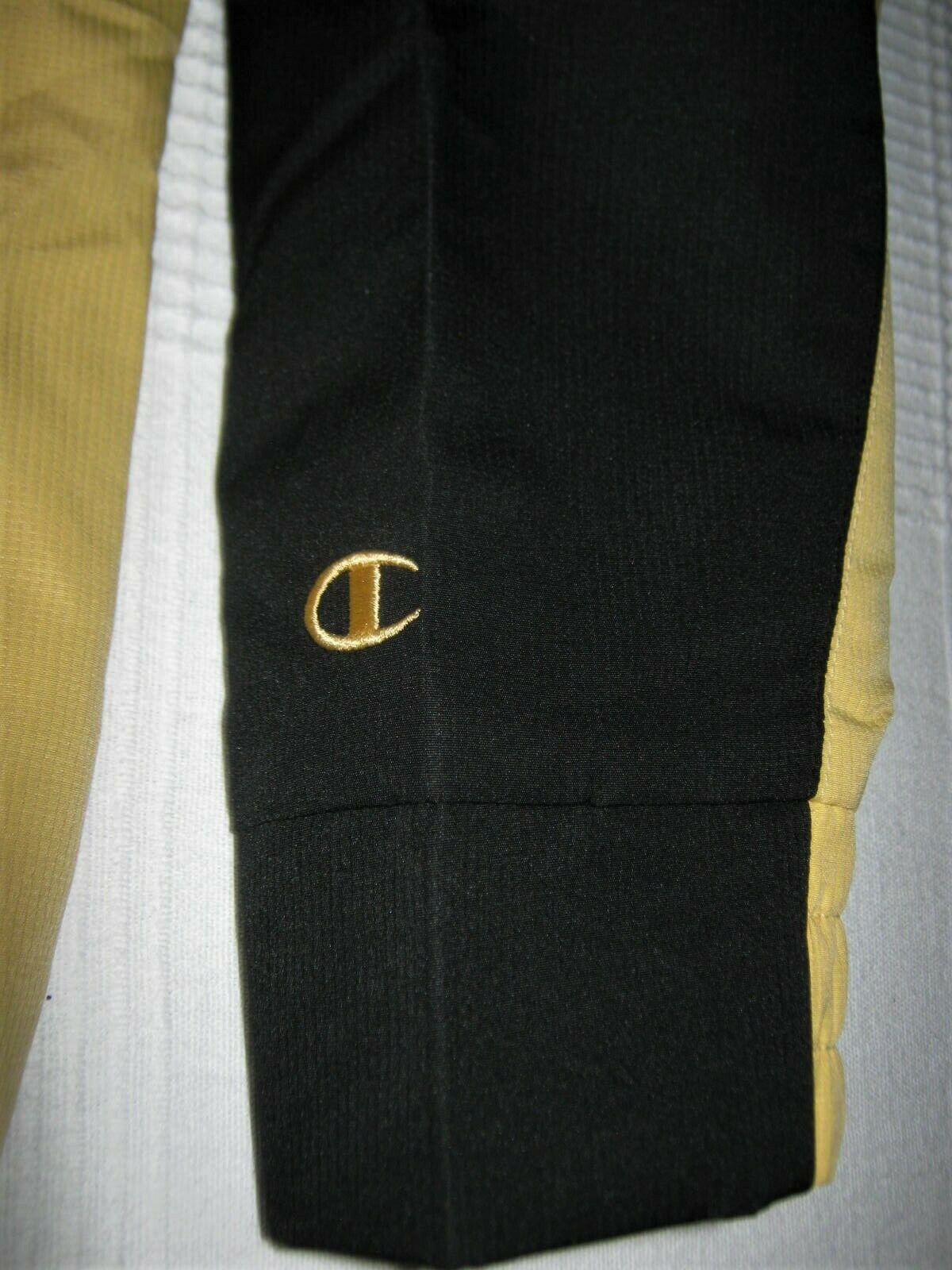 Purdue Boilermakers Jacket Quarter-Zip Pullover Champion Windjacket Black/Gold L