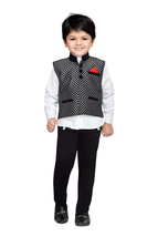 Kids Indian Wear Bollywood Style Shirt Waistcoat and Pant for Boys - $37.49