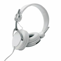 WeSC Bass DJ Unisex Headphones with Microphone White/Silver One Size NIB