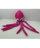 Ideal Toys Direct plush hot pink squid sea creature octopus stuffed anim... - $7.91
