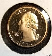 1993 S Proof  Washington quarter - $5.00