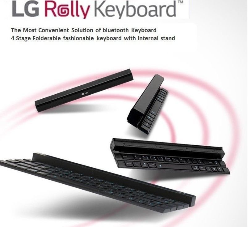 LG Rolly Bluetooth Forderable Keyboard KBB 700 Slim Wireless Dual Pairing 4 Step