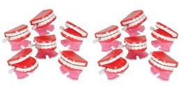 1 Dozen Novelty Mini Chattering Chomping Wind Up Toy Walking Teeth Dentures - $19.99