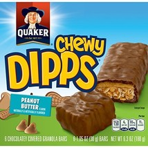 Quaker Chewy Dipps Granola Bars, Peanut Butter, 6 ct - $9.99