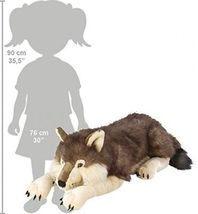 Cuddlekins Wolf, 30-Inch, Realistic Stuffed Animal, Soft Plush Toy, New - $97.98