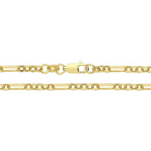 "9ct Yellow Gold 2mm Fancy Figaro 3+1 Oval and Round 16"" / 40cm Neck Chai... - $273.30"