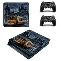 Tram wallpaper ps4 slim skin decal for console and controllers - $15.00