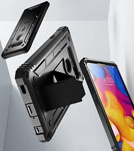 LG V40 ThinQ Rugged Case FullBody Rugged Heavy Duty BuiltinScreen Protector