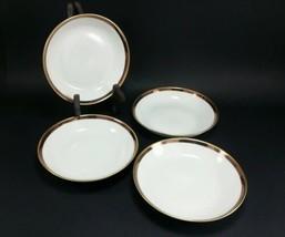 """set/4 vintage berry sherbet bowl 5.5"""" Heinrich Co Bavaria Germany SELB gold - $14.29"""