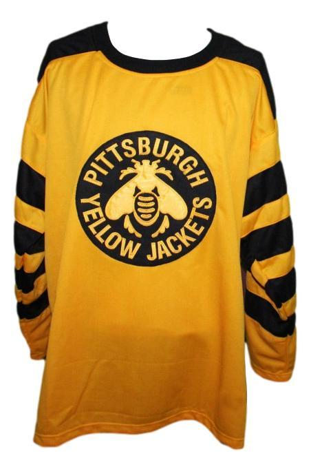Pittsburgh yellow jackets retro hockey jersey yellow   1