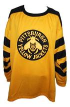 Any Name Number Pittsburgh Yellow Jackets Retro Hockey Jersey Any Size image 1
