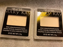 TWO Mary Kay Sheer Mineral Pressed Powder Ivory 1 Full Size .32 oz - $28.01