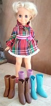 Crissy Doll Family Boots.  Vintage 1970's Ideal Chrissy Doll Family.  4 ... - $38.00