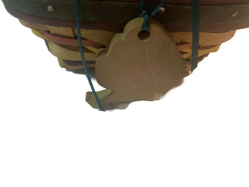 Longaberger Easter Basket Lining plastic liner handwoven dated 1998 image 3